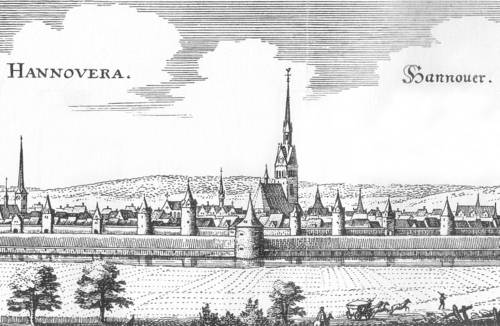 Stadtansicht Hannover Matthäus Merian 1654 (Ausschnitt)
