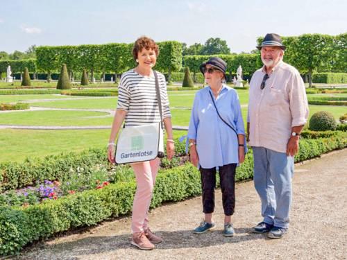 Drei Personen im Großen Garten
