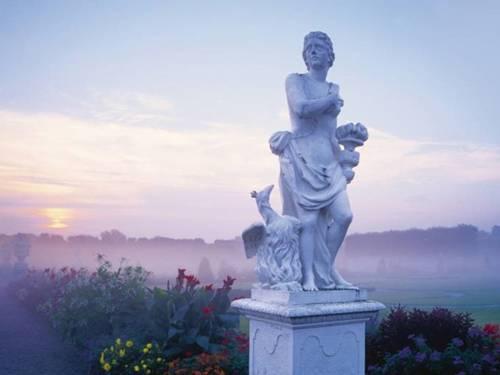 Der Große Garten bei Tagesanbruch