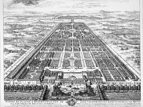 Lithographie des Großen Gartens