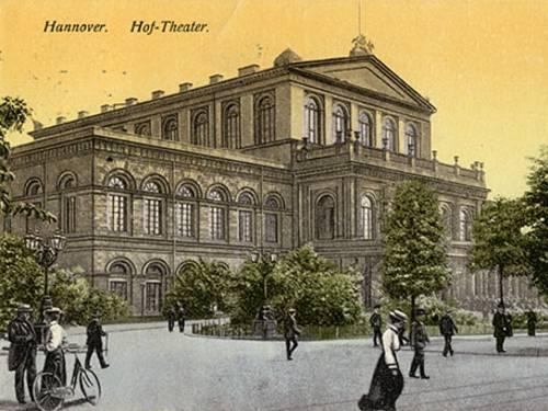 "Postkarte ""Hannover - Hof-Theater"", heute Opernhaus"
