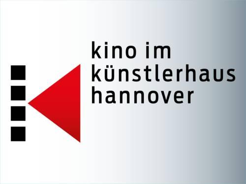 Das Logo des Kommunalen Kinos besteht aus einem K, dargestellt aus vier schwarzen Quadraten untereinander und daneben ein rotes Dreieck, und dem Schriftzug Kino im Künstlerhaus