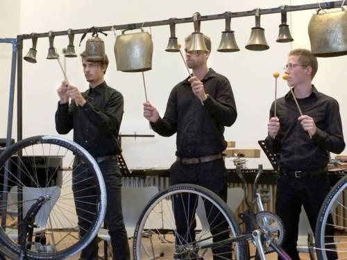 Das Frantic Percussion Ensemble beim Musik 21 Nachwuchsfestival.