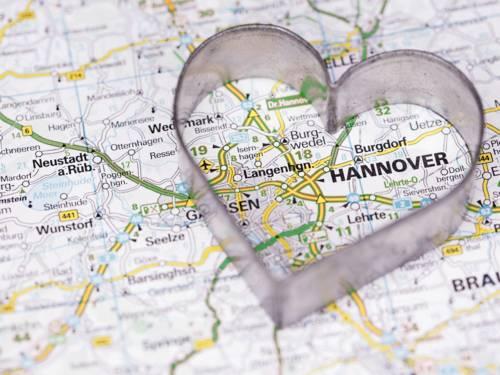 Hannover auf der Landkarte