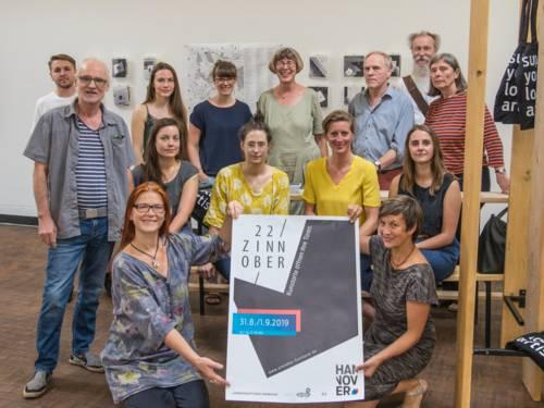 Künstler*innen, Galerist*innen und Kunstschaffende des ZINNOBER-Wochenendes 2019