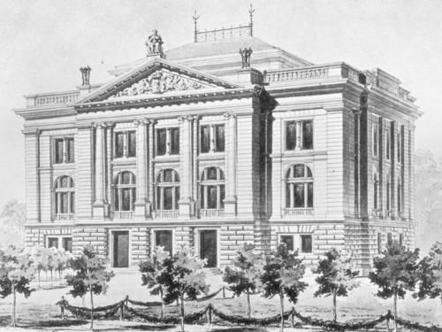 Eine historische Außenansicht des Museum August Kestner