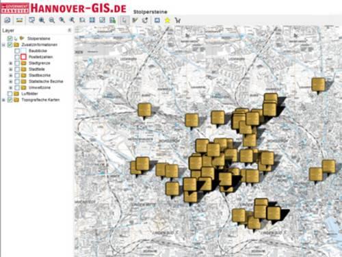 Digitale Stadtkarte