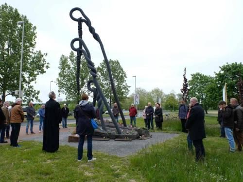 Gedenken am Mahnmal für das ehemalige KZ Stöcken, 8. Mai 2019