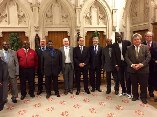 Teilnehmer der 9. Executive Conference der Mayors for Peace in Ypern/Belgien