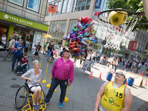 """Thementag """"Hannover alle(s) inklusive Sport"""" in Hannovers Innenstadt"""