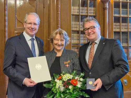 Oberbürgermeister Stefan Schostok, Silvia Hesse und Regionspräsident Hauke Jagau