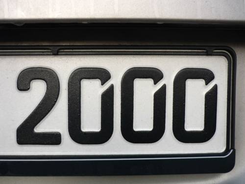 Nummernfolge eines KFZ-Kennzeichens