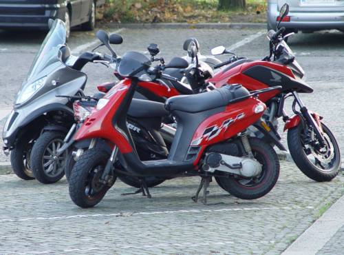 Parkende Motorräder