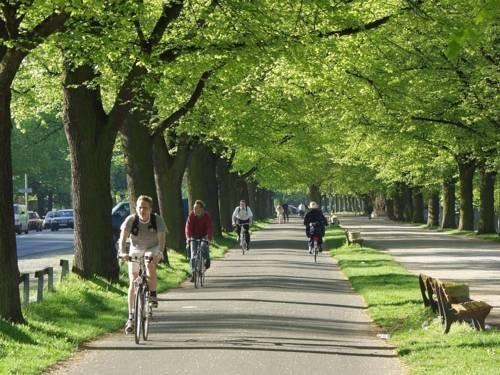 Radfahrer am Maschsee