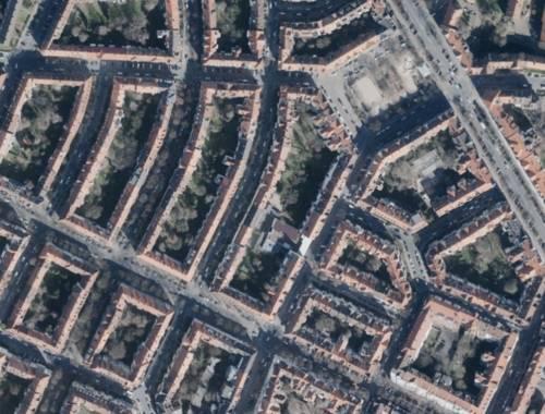 Luftbild des Stadtteils Hannover-List