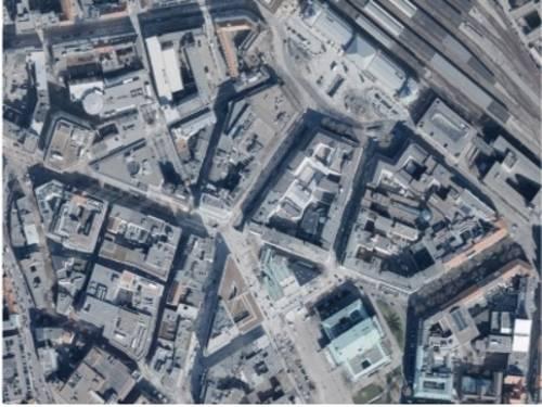 Luftbild des Stadtteils Hannover-Mitte