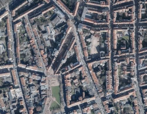 Luftbild des Stadtteils Hannover-Oststadt