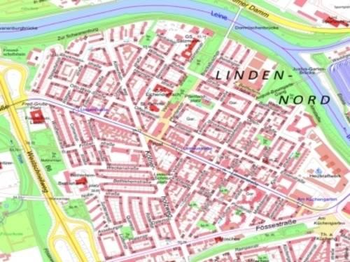 Kartenausschnitt Linden-Nord
