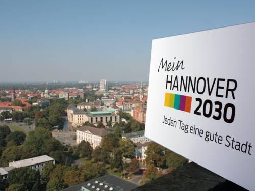 Blick über Hannover- aufgenommen vom Rathausturm
