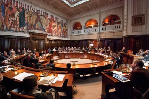 Sitzung im Hodlersaal
