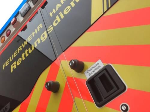 RTW-Neu-Hecktüren mit Schriftzug Rettungsdienst