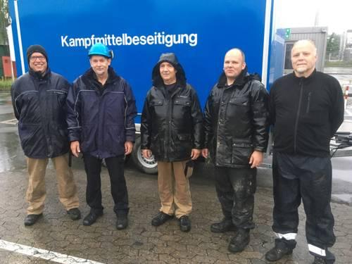 Das Team vom Kampfmittelbeseitigungsdienst