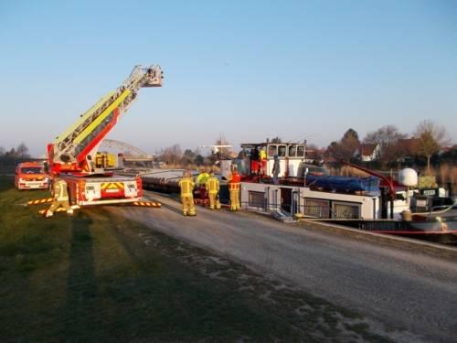 Notfalleinsatz auf dem Mittellandkanal