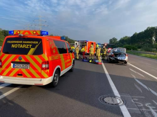 Ein Verkehrsunfall auf der Autobahn