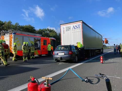 Ein Unfall auf der Autobahn