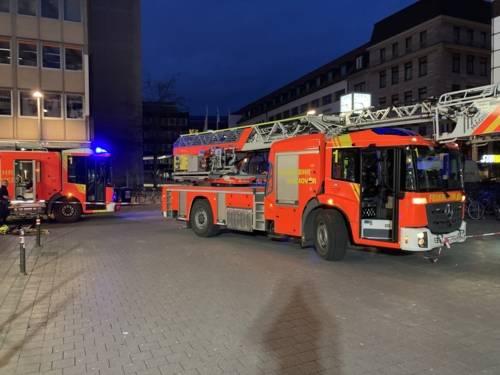 Feuerwehrautos in der Innenstadt