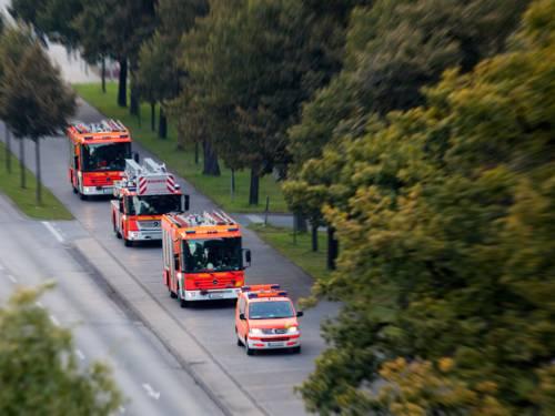 Löschzug Feuerwehr Hannover auf dem Friedrichswall