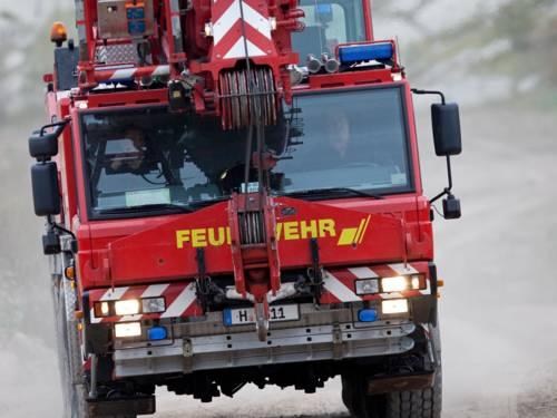 Symbolbild Kraneinsatz Feuerwehr Hannover
