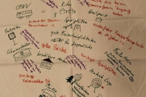 Tischdecke aus dem World-Café Vahrenwald