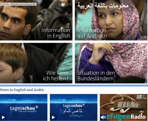 ARD Refugee Seite