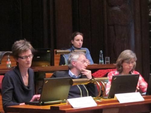 Die Ratsmitglieder Jeschke, Klapproth und Matz