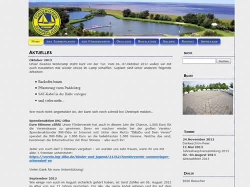 Screenshot Homepage - Förderverein Sommerlager e.V.