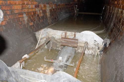 Kanalreinigungsgerät im Einsatz