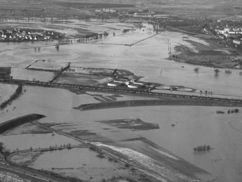 Hochwasser im Klärwerk Herrenhausen am 09.03.1956