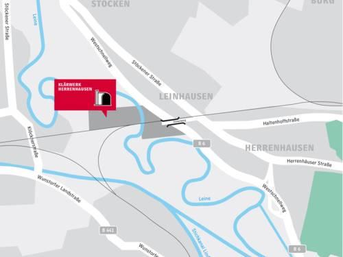 Anfahrtsbeschreibung Klärwerk Herrenhausen