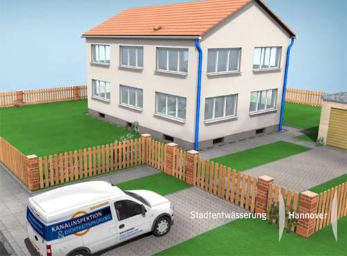 Freistehendes Haus mit Vorgarten und einem davor parkenden Auto