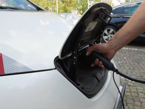 Tanken eine Elektroautos