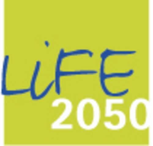 Logo der Forschungsinitiative Life 2050 der Leibniz Universität Hannover