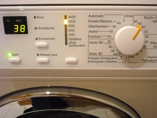 Einstellungen, die man an einer Waschmaschine wählen kann