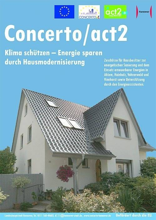 Flyer-Titelblatt Concerto/act2 - Einfamilienhaus