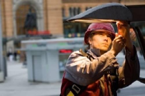Austausch einer Straßenlampe