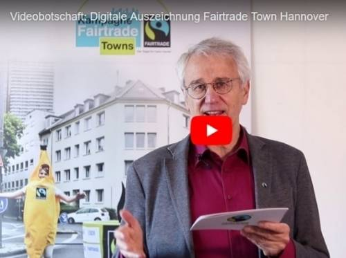 Standbild der Videobotschaft von Dieter Overath, Geschäftsführer von TransFair e.V.