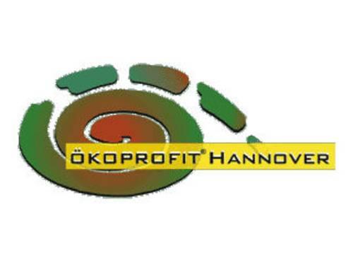 Logo von Ökoprofit mit einer grün-roten Spirale