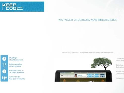 Bild einer Internetseite.