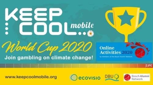 """Ein Werbebanner zu """"Keep Cool"""" 2020."""