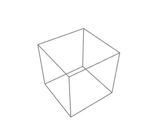 WebGL Illustration - Dreidimensionales Rechteck